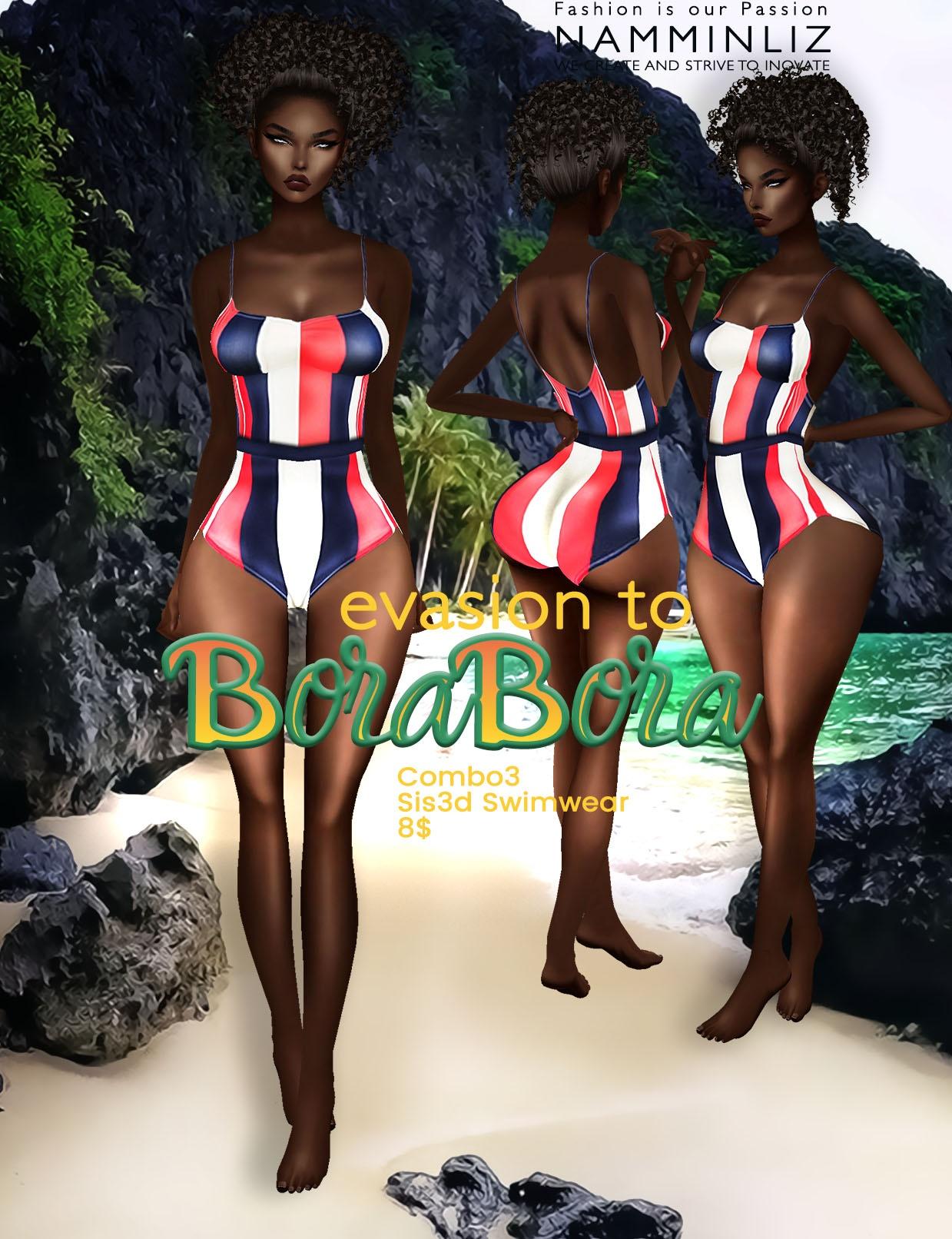 Evasion to Bora Bora combo3 Sis3d swimwear imvu NAMMINLIZ