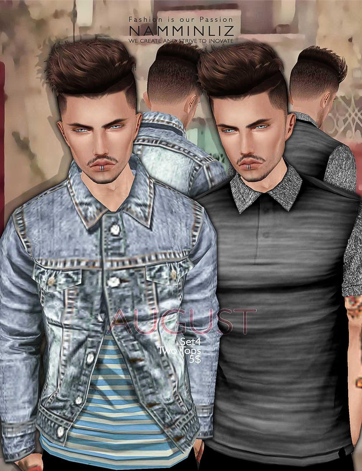 August Full Set •8 Tops • 2 Jeans imvu Textures