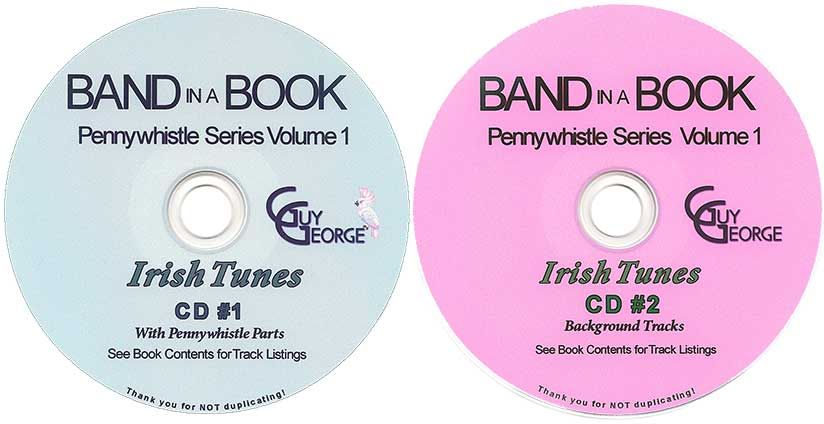 Band In A Book Pennywhistle Series Vol. 1 CD1 & CD2 Combo