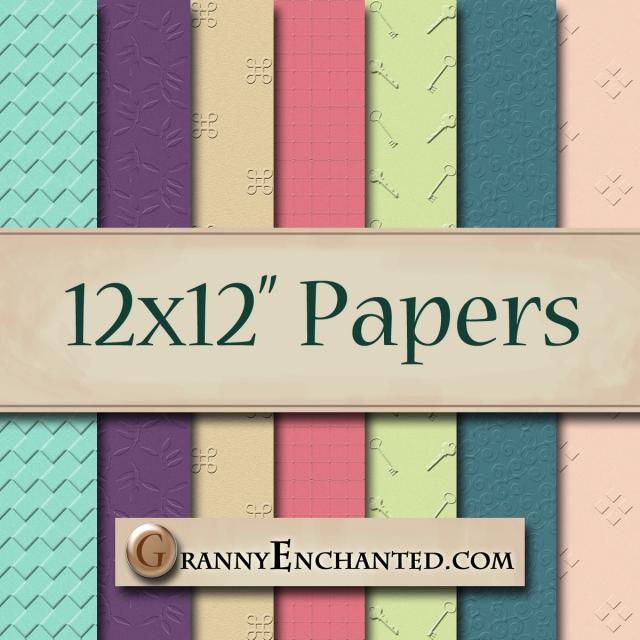Granny Enchanted's Fun Embossed Paper Pack