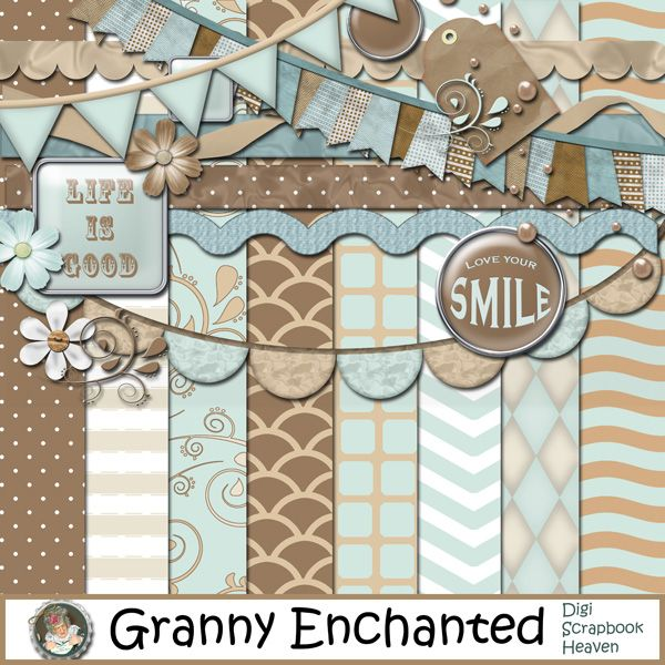 """Shore"" Digital Scrapbook Kit (98) From Granny Enchanted"