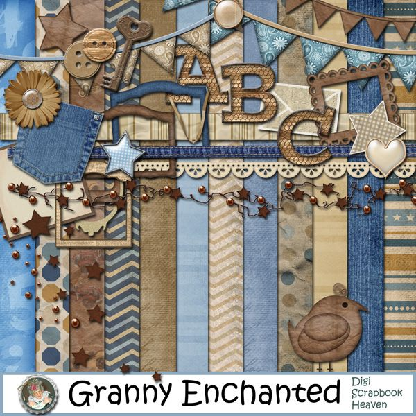 """It's a Boy Thang"" Digital Scrapbook Kit from Granny Enchanted"