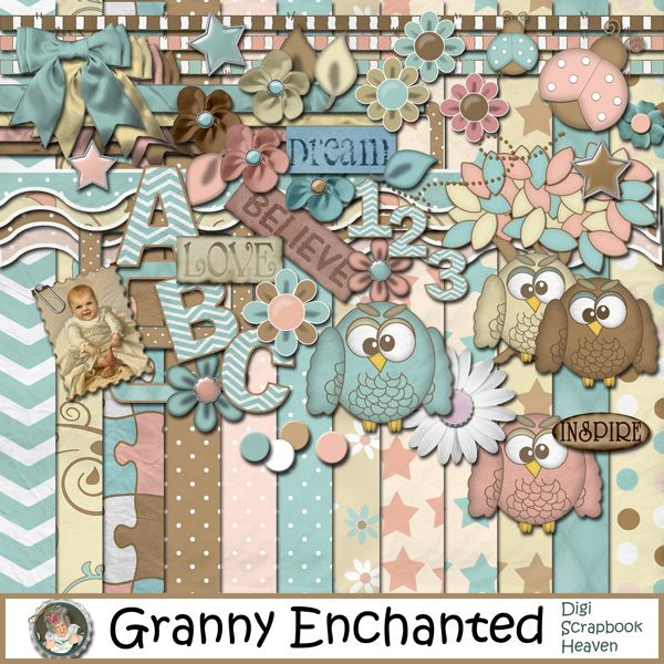 """Baby"" digital scrapbook kit"