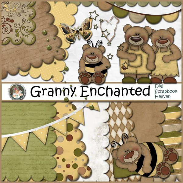Bumble Bears Digital Scrapbook Kit