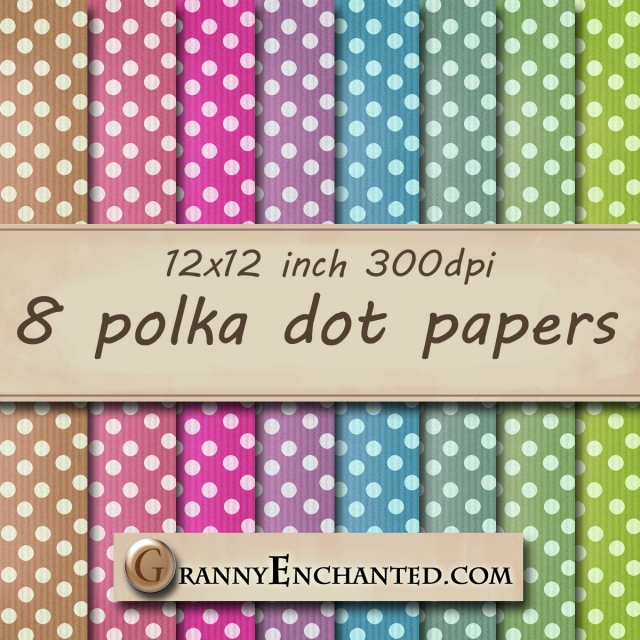 Granny Enchanted Faded Corduroy Polka Papers