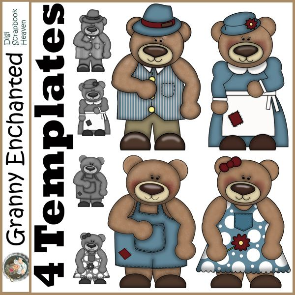 Beary Fine digital scrapbook templates