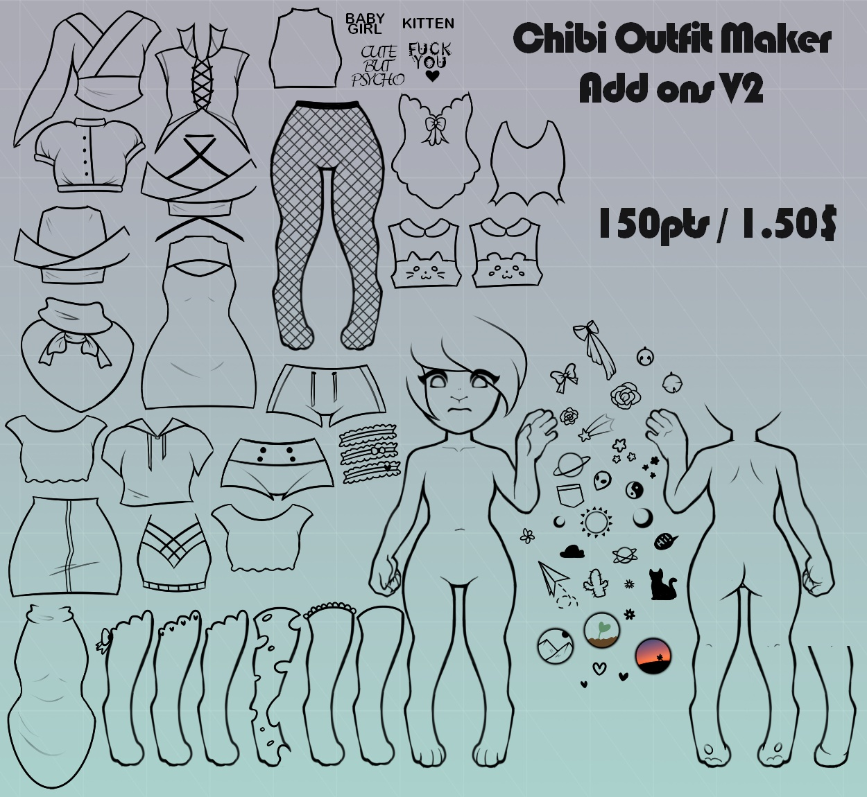 Chibi Outfit Maker 2 Add Ons V2