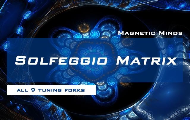 Solfeggio Matrix - All 9 Tuning Forks Simultaneously - Ancient Solfeggio Scale
