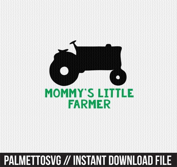 mommy's little farmer clip art svg dxf cut file silhouette cameo cricut download