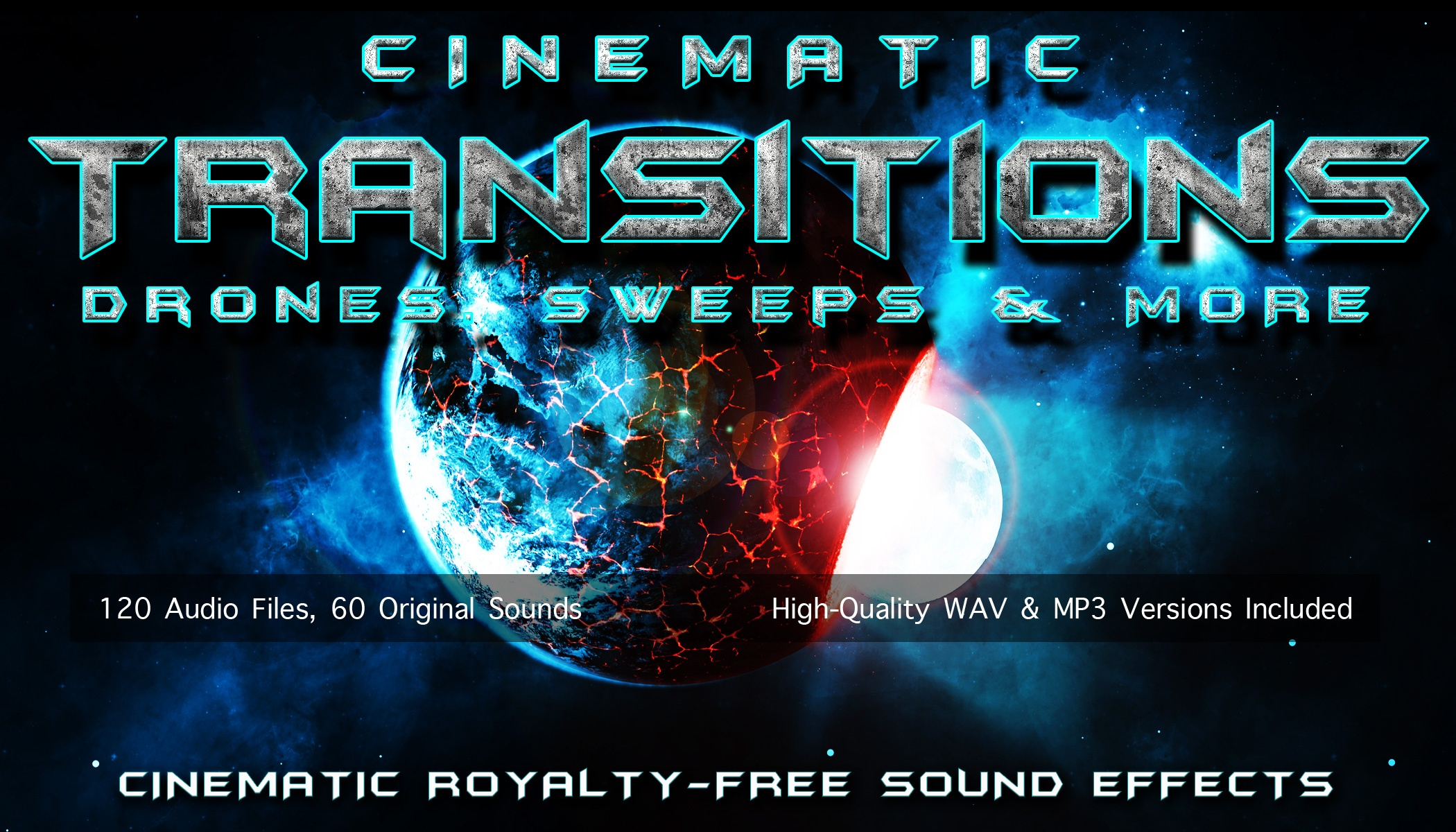 CINEMATIC TRANSITIONS - Movie Trailer Sweep, Drone and Whoosh Sound Effects