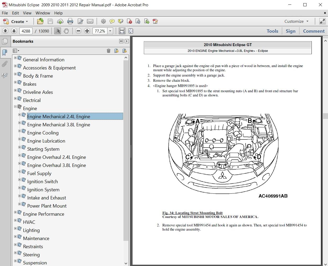2011 Eclipse Engine Diagram Schematics Mitsubishi 2009 2010 2012 Repair Manual Lunar