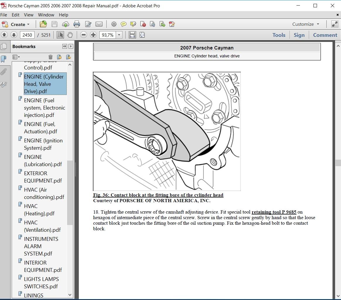 Porsche Cayman 2005 2006 2007 2008 Repair Manual ...