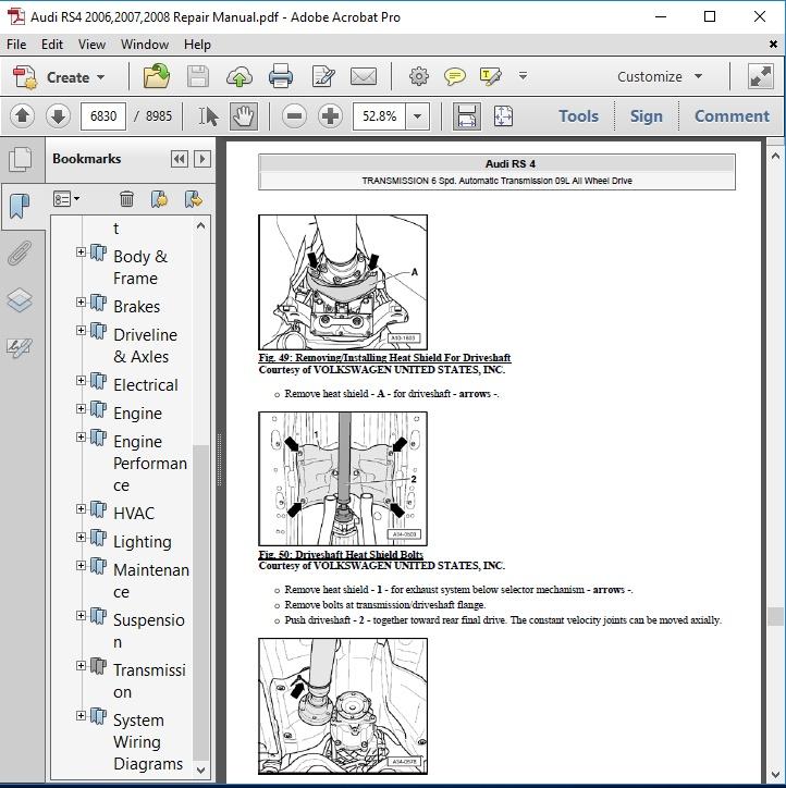 audi rs4 2006 2007 2008 repair manual autoservicerepair