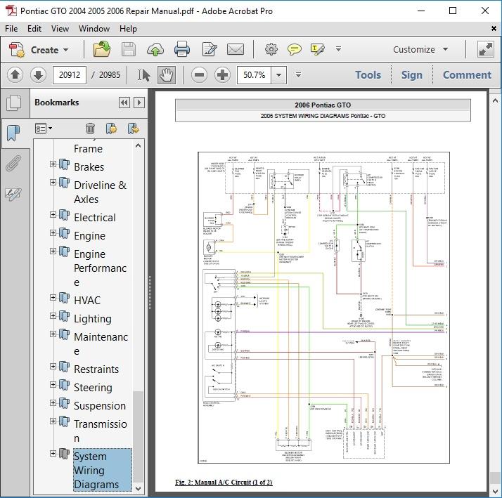 2005 Gto Wiring Diagram Wiring Diagram