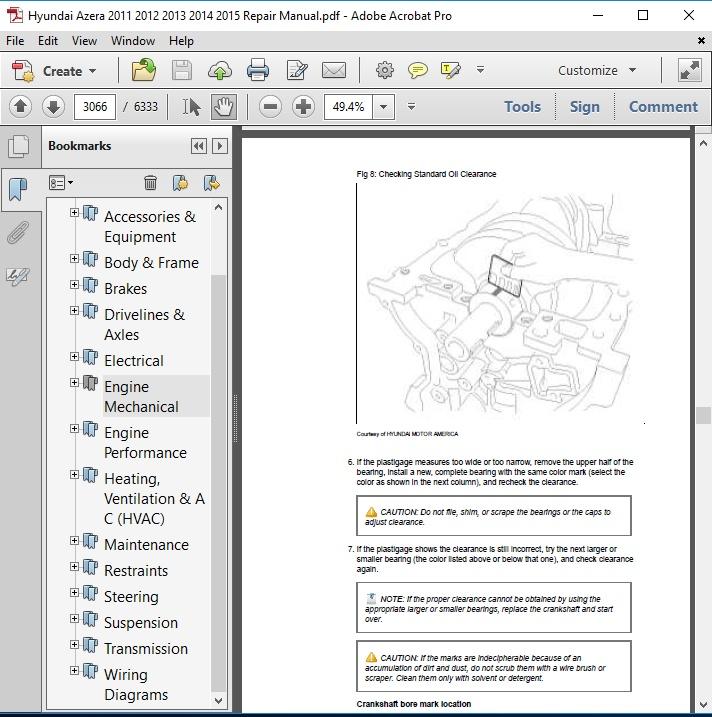 hyundai azera 2011 2012 2013 2014 2015 repair manual Hyundai Azera Wiring Diagrams