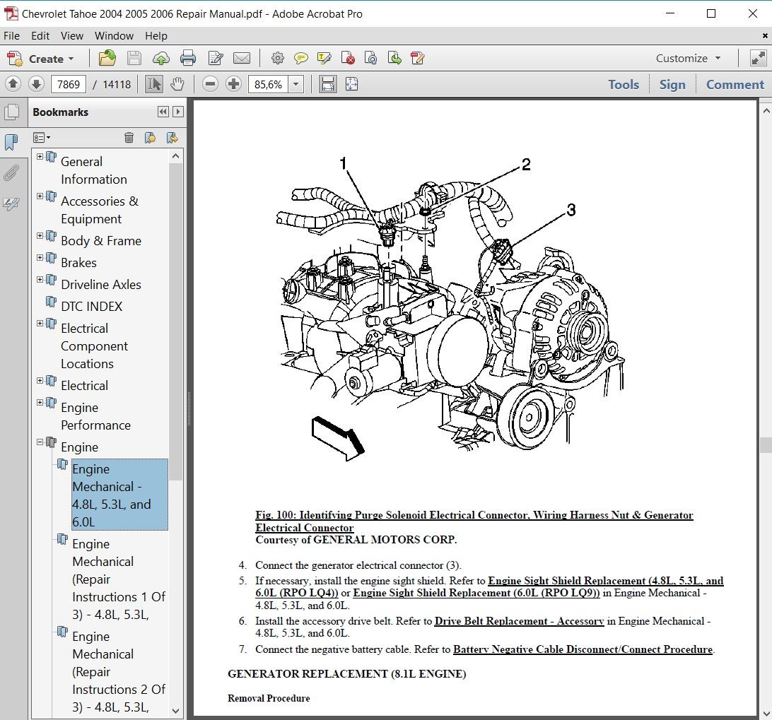 Chevrolet Tahoe 2005 Repair Manual - autoservicerepair