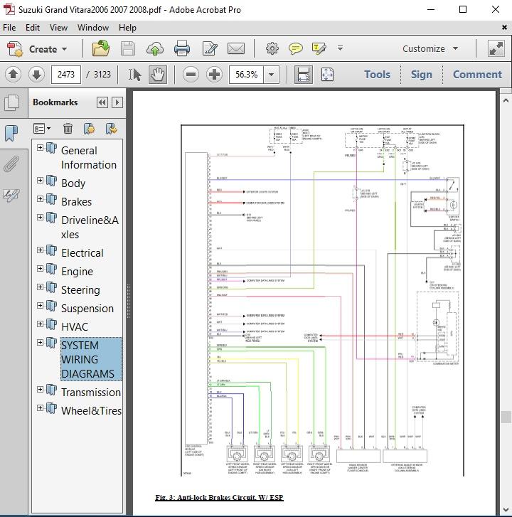 [ZSVE_7041]  Suzuki Grand Vitara 2006 2007 2008 Repair Manual - autoservicerepair | 2007 Suzuki Grand Vitara Wiring Diagram |  | Sellfy