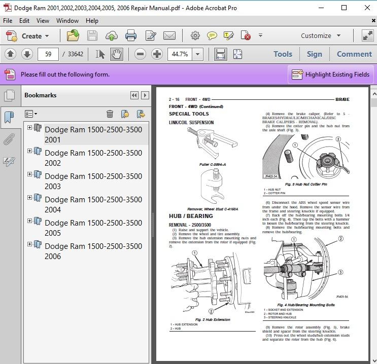 dodge ram 2002 2004 repair service manual