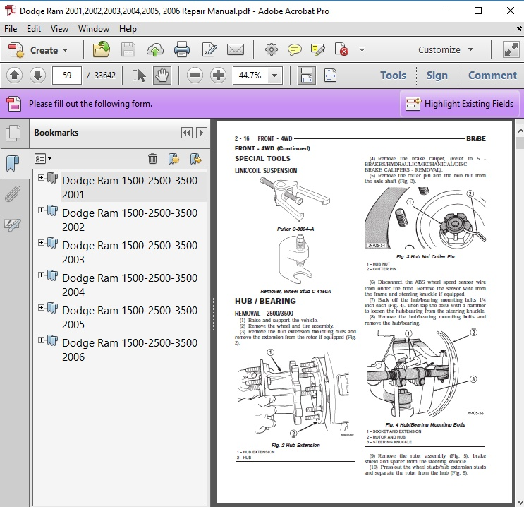 2006 dodge ram service manual pdf