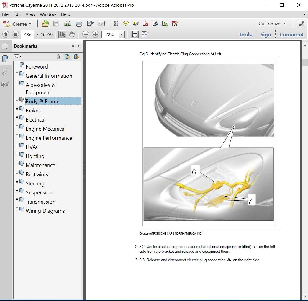2012 porsche cayenne repair manual