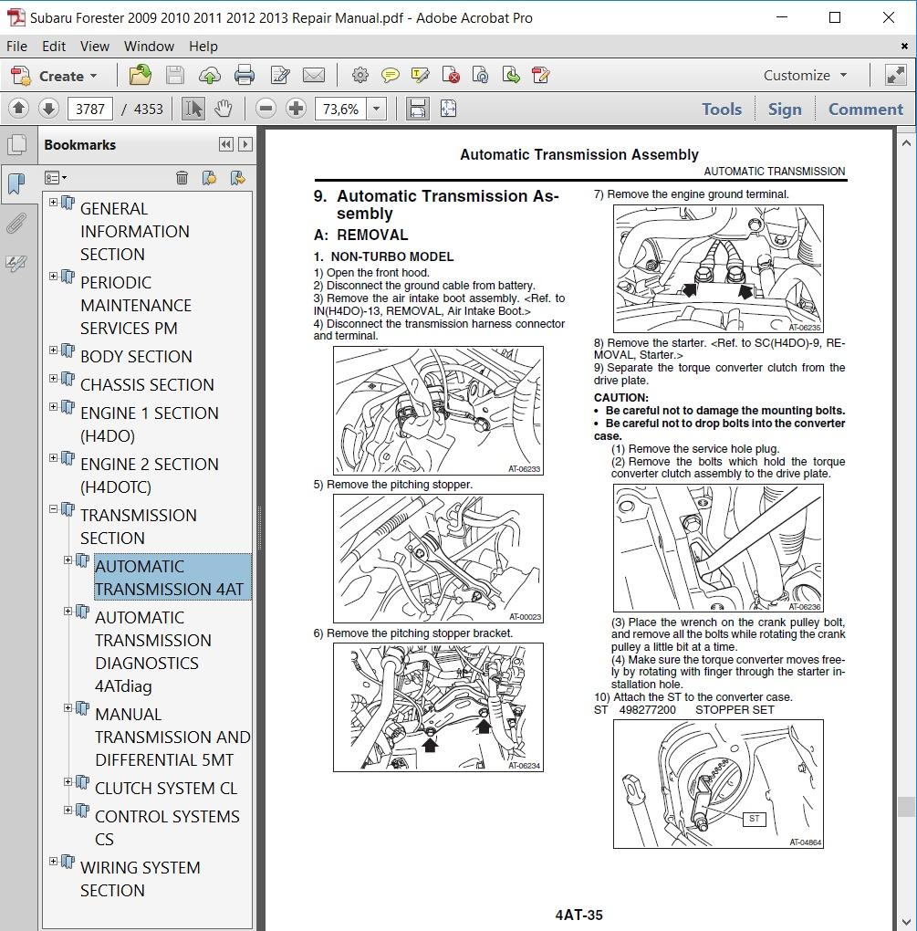 Subaru Forester 2009 2010 2011 2012 2013 Repair Manual Autoservicerepair