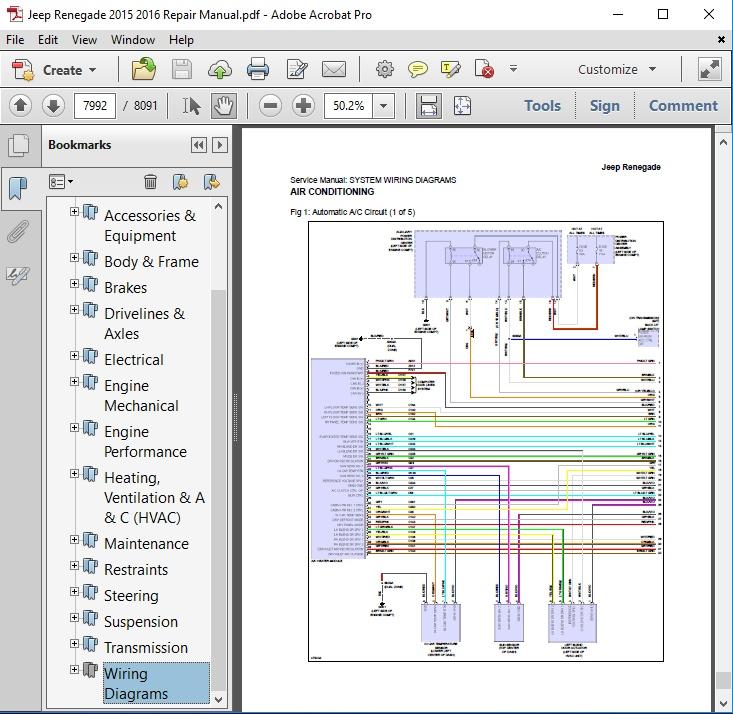 jeep renegade wiring diagram wiring diagram Jeep Electrical Wiring Schematic jeep renegade wiring diagram schematic diagramjeep renegade 2015 2016 repair manual autoservicerepair jeep 130 radio wiring