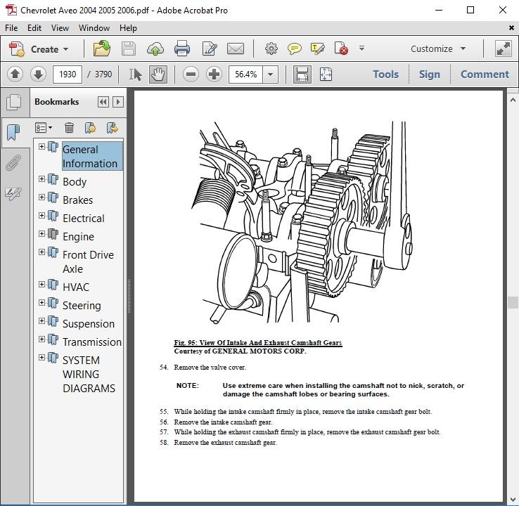Chevrolet Aveo 2004 2005 2006 Repair Manual Autoservicerepair