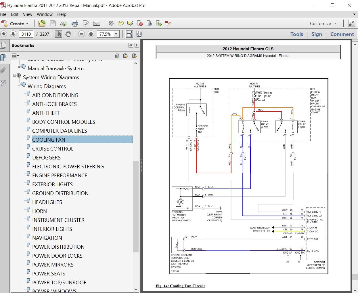 2013 Hyundai Elantra Wiring Diagram