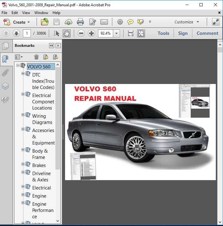 Bestseller  2001 Volvo S60 Repair Manual