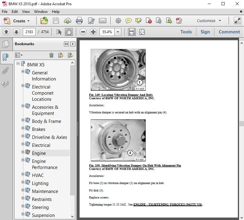 Bmw X5 2010 Repair Manual