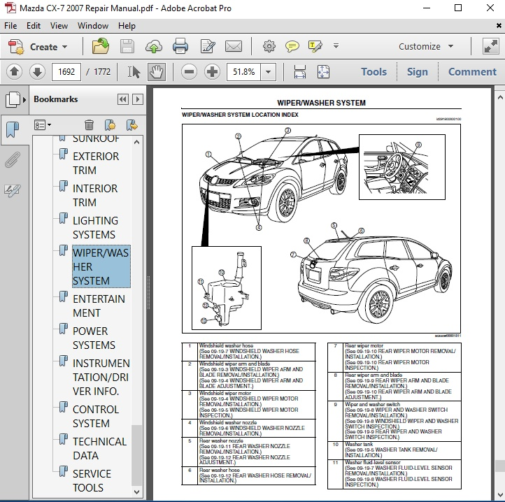 Mazda Cx-7 2007 Repair Manual