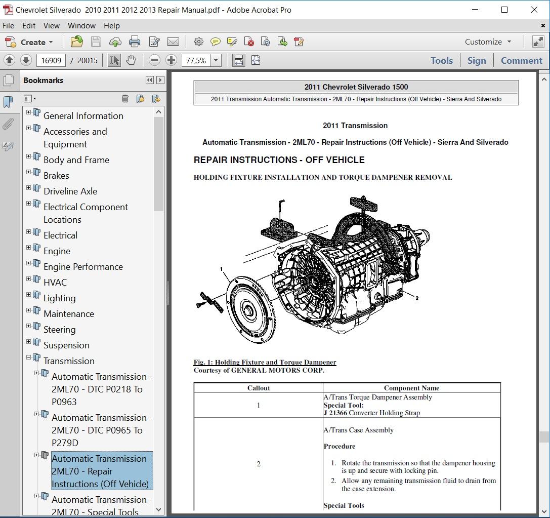 Chevrolet Silverado 2010 2011 2012 2013 Repair Manual Chevy Steering Diagram Service Covers