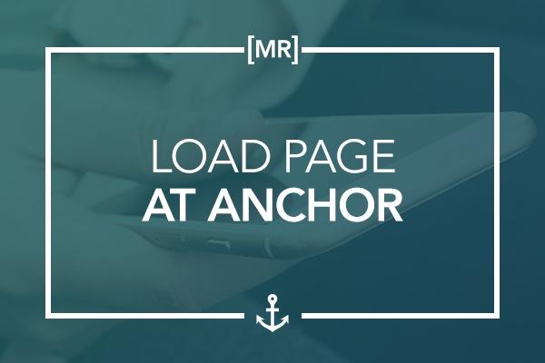 Load Page at Anchor