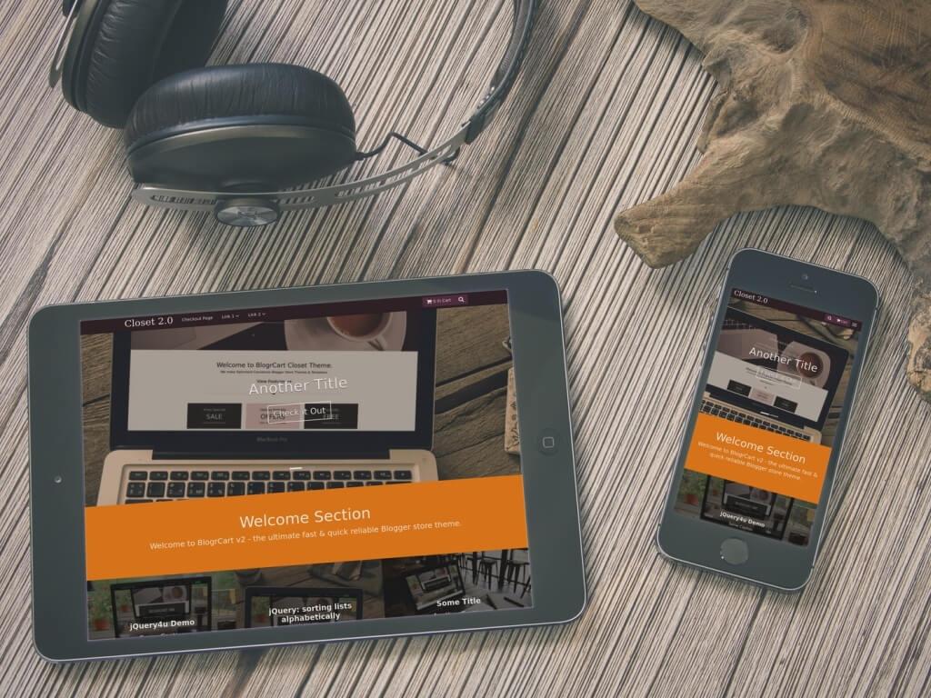 BlogrCart CLOSET V2 - Free Responsive Premade Blogger Shopping Cart Blogspot Template
