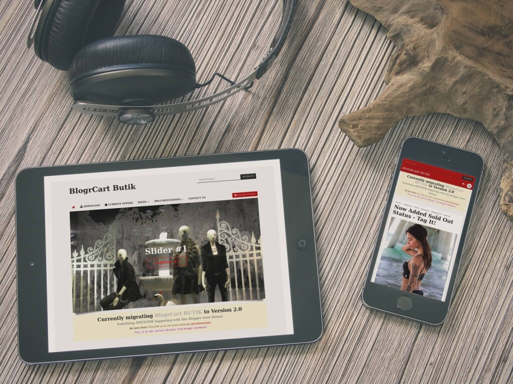 BlogrCart BUTIK (PRO v2.0) - Blogger Store Theme E-commerce Inspired with Shopping Cart