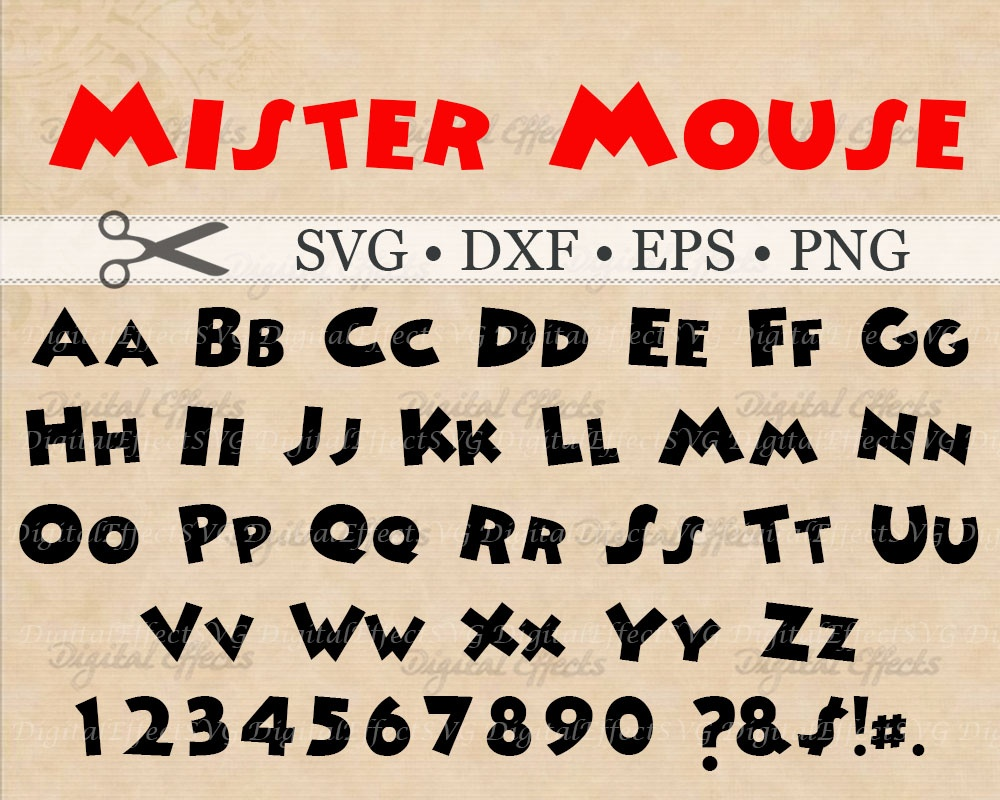 MOUSE FONT SVG FILES