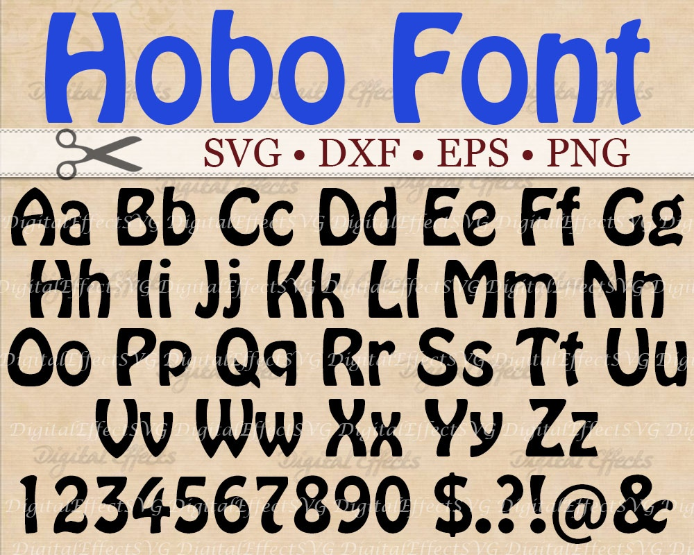 HOBO FONT SVG FILES