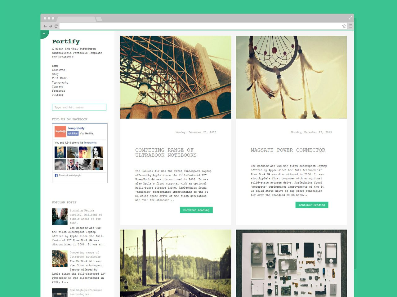 Portify (Licensed Version) By Templateify.com