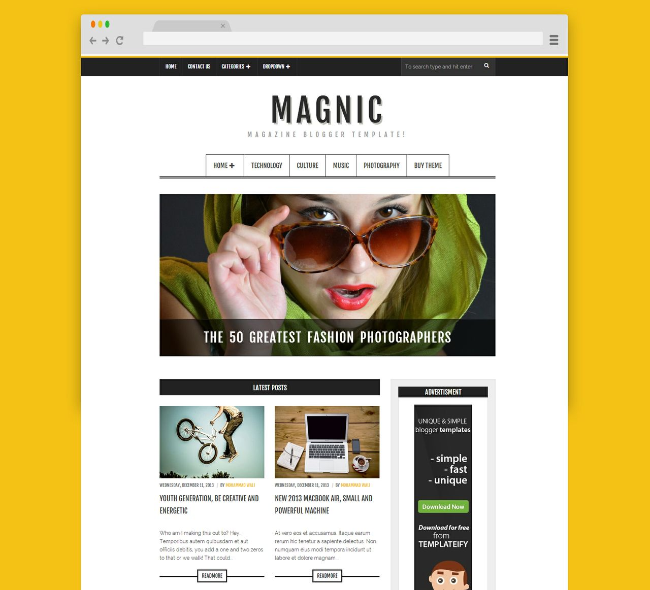 Magnic (Licensed Version) By Templateify.com