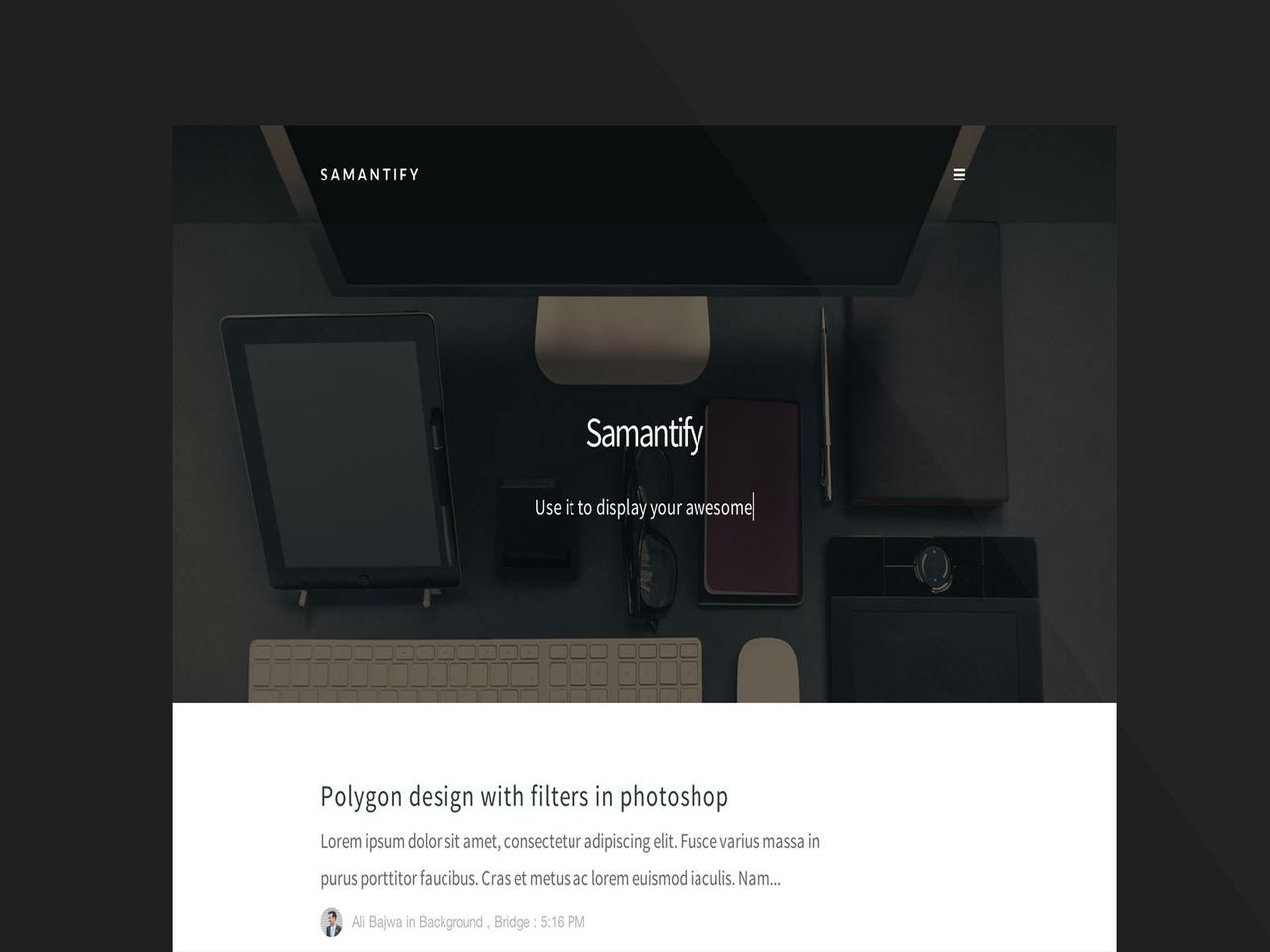Samantify (Licensed Version) By Templateify.com