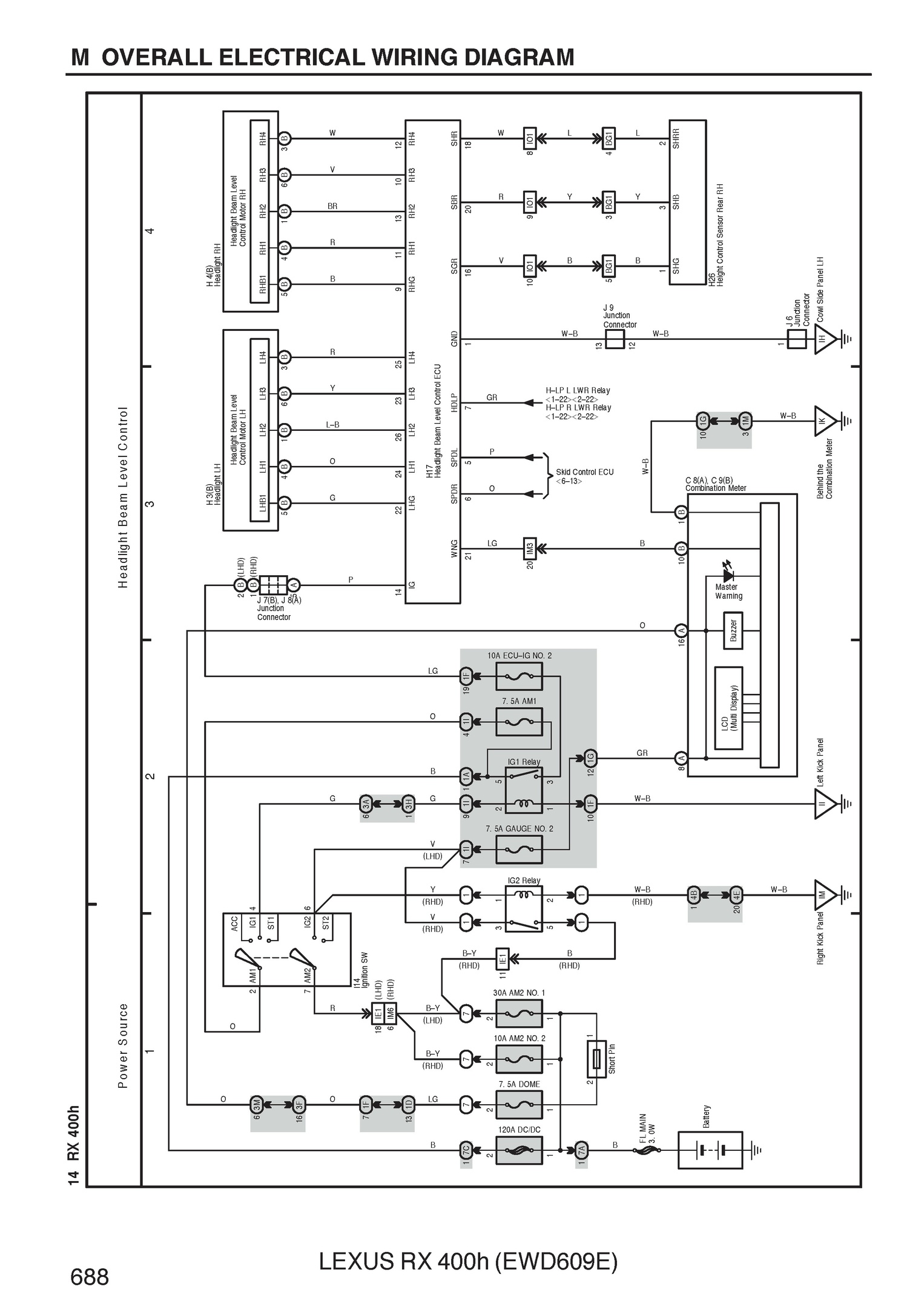 Free 2005 Lexus Rx400h Oem Electrical Wiring Diagram Pdf Language English File Type