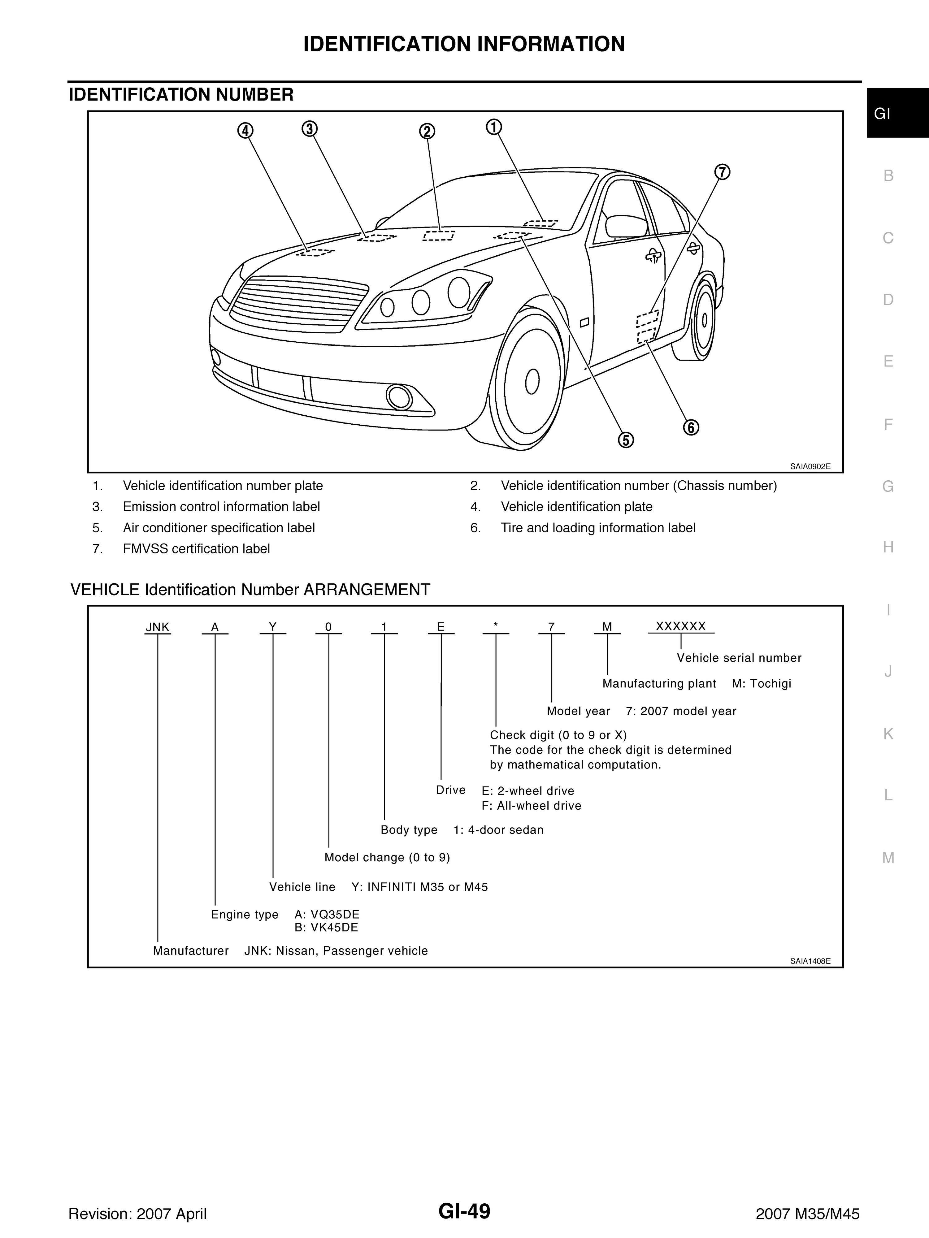 2003 2007 Infiniti M45 M35 Oem Workshop Service And R Wiring Diagram Language English File Pdf