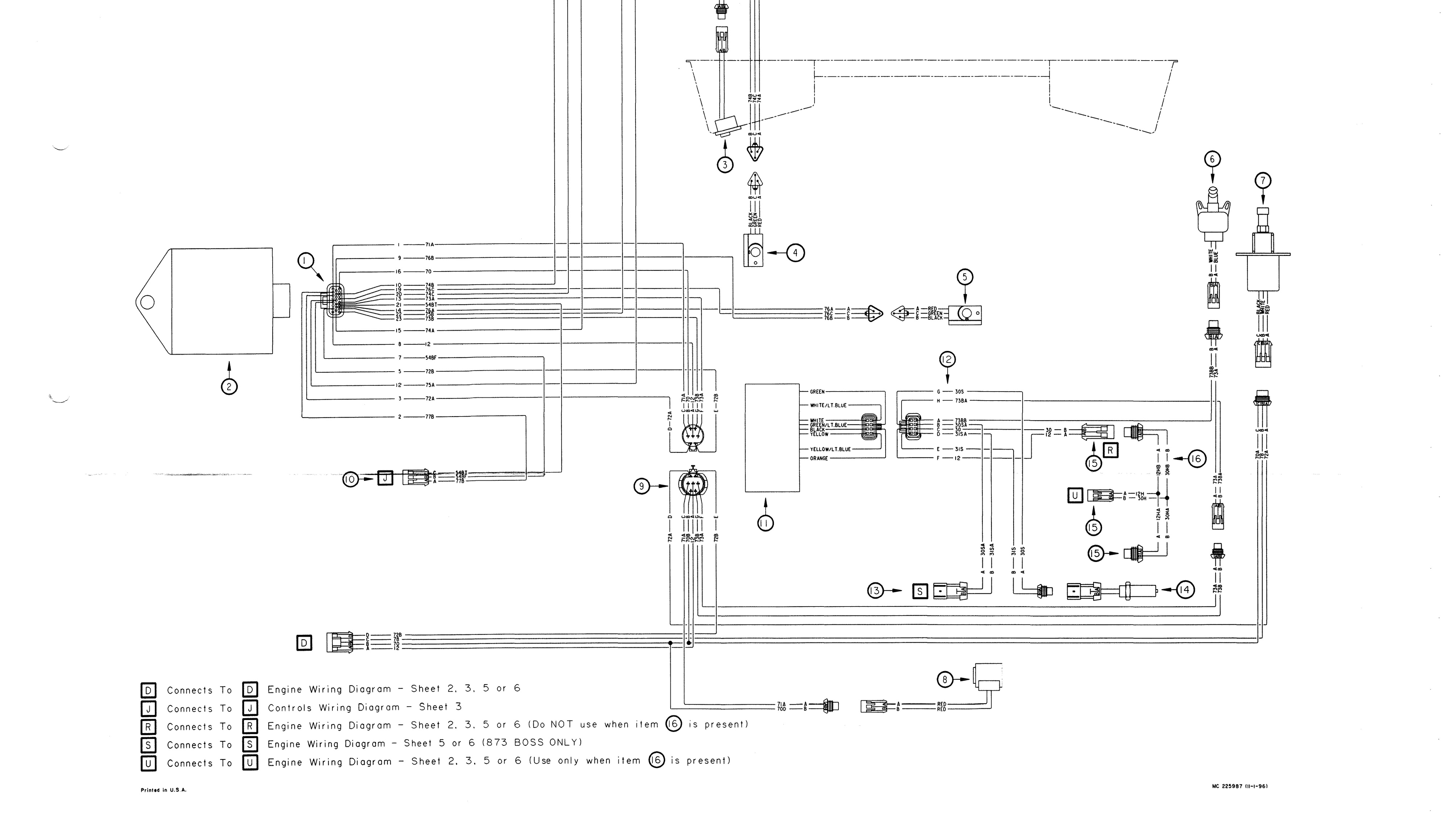 bobcat 873 skid steer loader factory service and repai series batteries diagram file format pdf language english printable yes