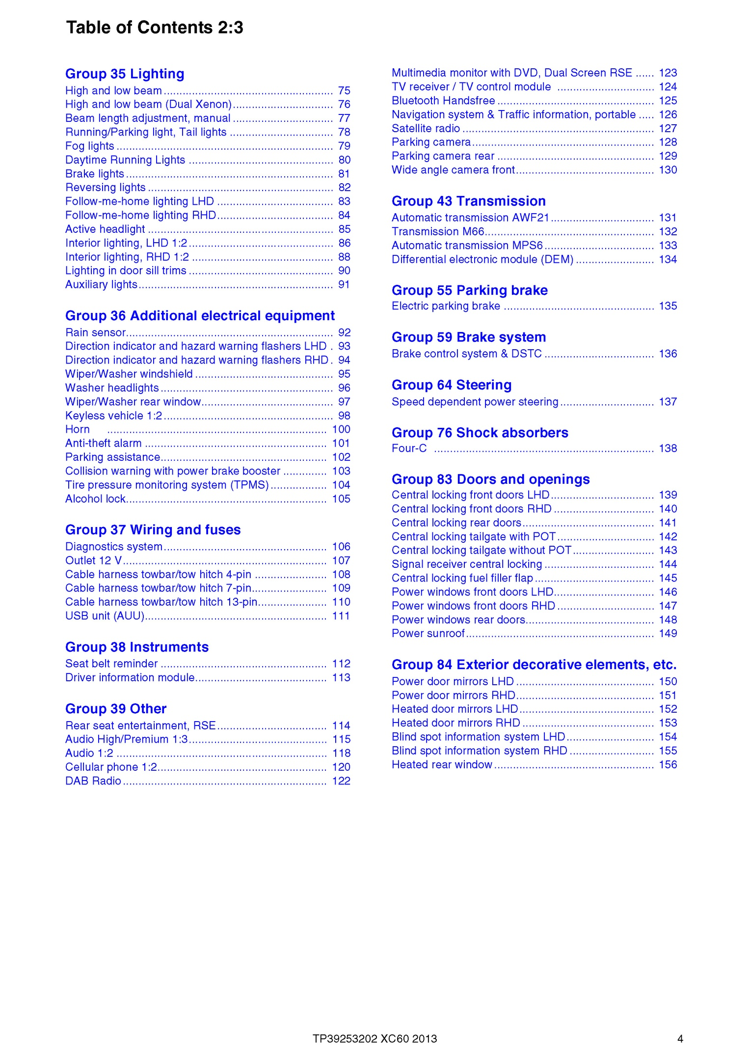 2013 Volvo Xc60  Oem Electrical Wiring Diagrams
