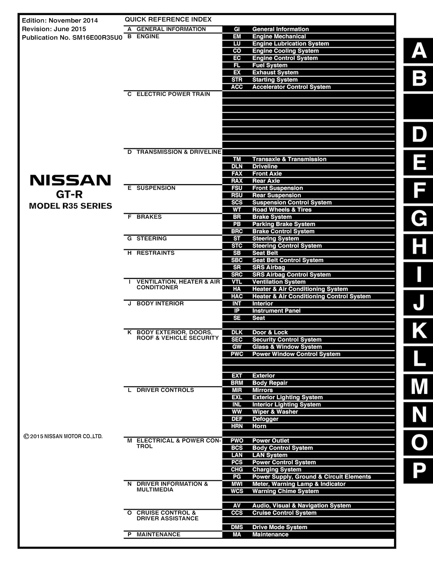 nissan gtr r35 owners manual