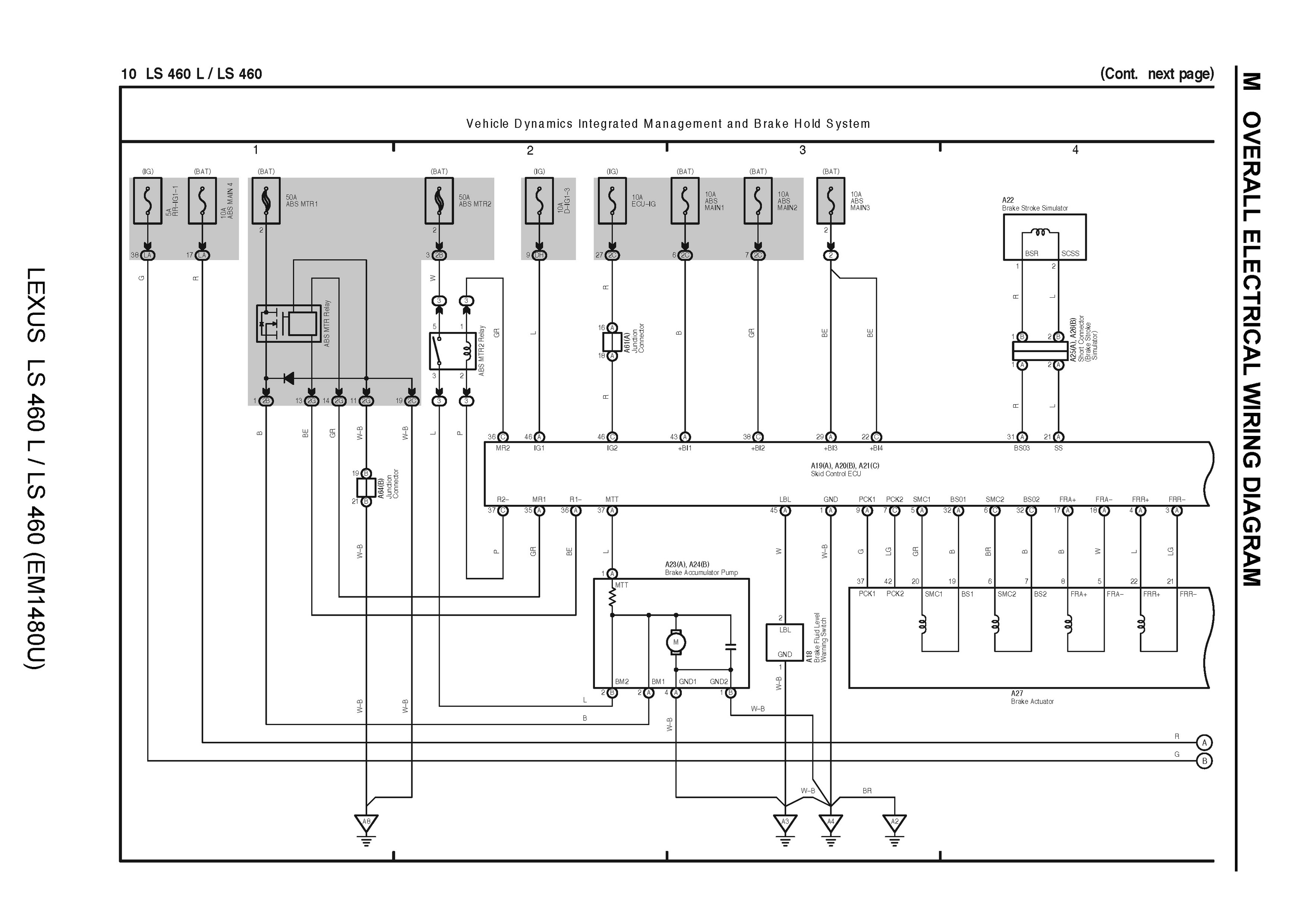 Free 2007 Lexus Ls460l Ls460 Oem Electrical Wiring Manual Pdf Overall Diagram