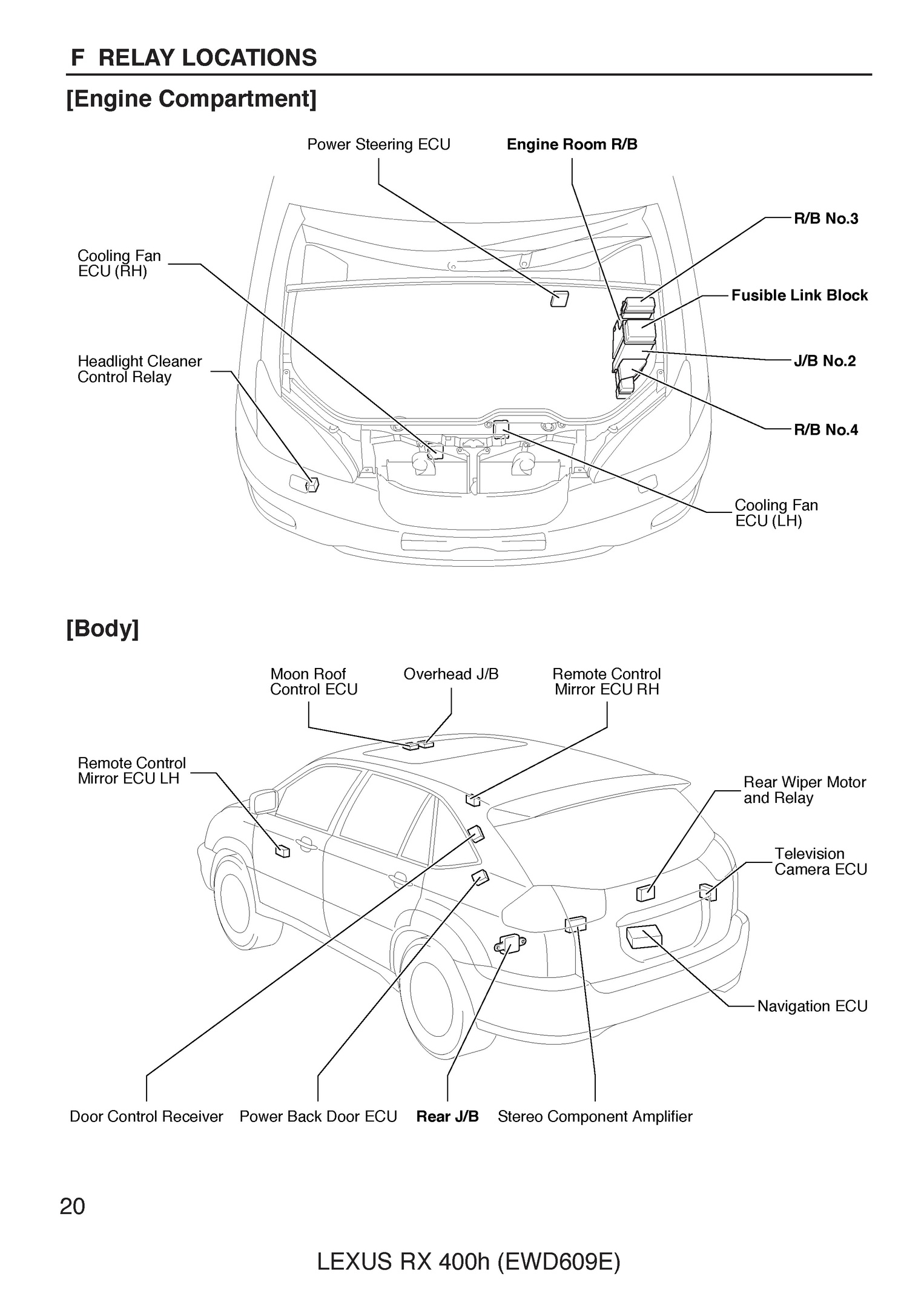 Free 2005 Lexus Rx400h Oem Electrical Wiring Diagram Automotive Diagrams Pdf