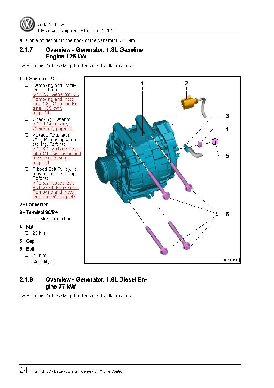 2011 Volkswagen Jetta, OEM Service of Electrical Syste - OEM