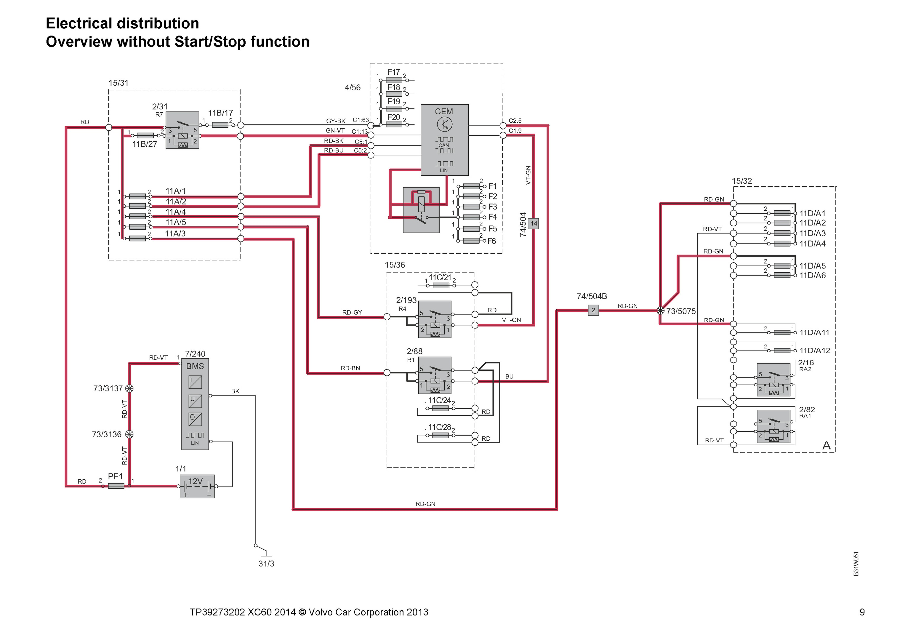 2001 Volvo Wiring Diagram 2015 S60 Download Diagrams Xc60 Immobilizer