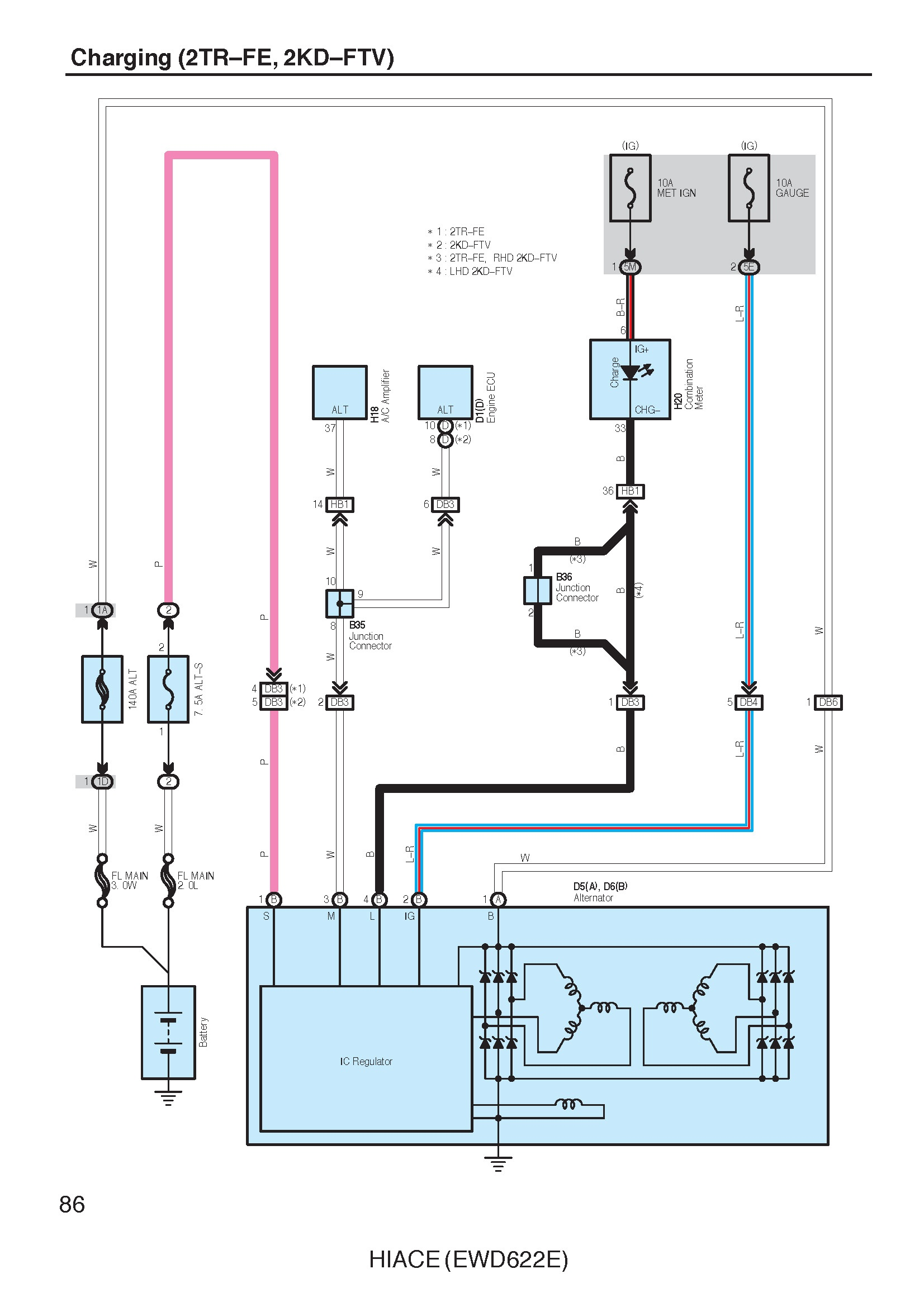 2006 Toyota Hiace Electrical Wiring Diagrams  Pdf